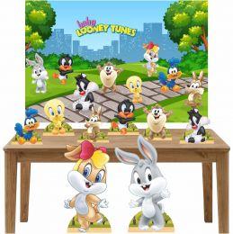 Kit Decoração Festa Totem Display 9 peças Baby Looney Tunes