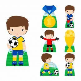 Kit Decoração Festa Totem Display 8 peças Futebol Cute