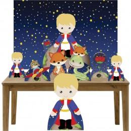 Kit Decoração Festa Totem Display 8 peças Pequeno Príncipe