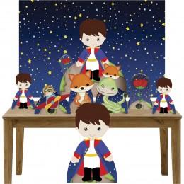 Kit Decoração Festa Totem Display 8 peças Pequeno Príncipe Mod. 2