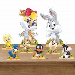 Kit Decoração Festa Totem Display Baby Looney Tunes 8 Peças
