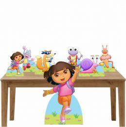 Kit Decoração Festa Totem Display Dora Aventureira-7 Peças