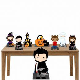 Kit Decoração Festa Totem Display Vampiro 8 Peças