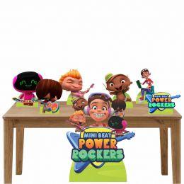 Kit Decoração Festa Totem Display Mini Beat Power Rockers - 7 Peças