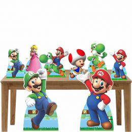 Kit Decoração Festa Totem Display Super Mario Bros-8 Peças