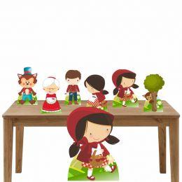 Kit Decoração Festa TotemDisplay Chapéuzinho Vermelho 7Peças
