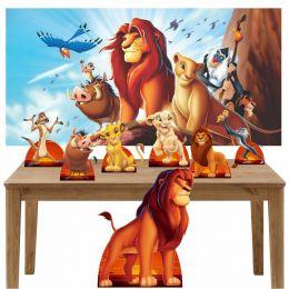 Kit Decoração de Festa Totem Display 8 peças O Rei Leão