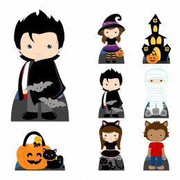 Kit Decoração de Festa Totem Display 9 peças Vampiro