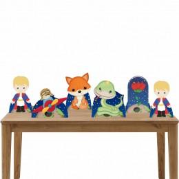 Kit Decorativo 6 Displays de Mesa Pequeno Príncipe
