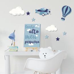 Kit Decorativo Infantil Sonhe Alto Meu Pequeno