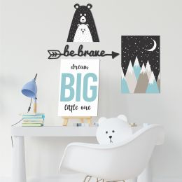 Kit Decorativo Infantil Urso Escandinavo