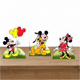 Kit Festa 3 Displays de Mesa Aniversário Mickey Mouse