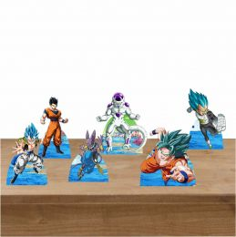 Kit Festa 6 Displays de Mesa Aniversário Dragon Ball