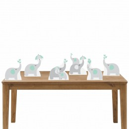 Kit Festa 6 Displays de Mesa Aniversário Elefante Verde