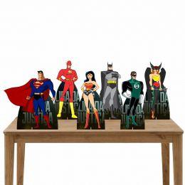 Kit Festa 6 Displays de Mesa Aniversário Liga da Justiça
