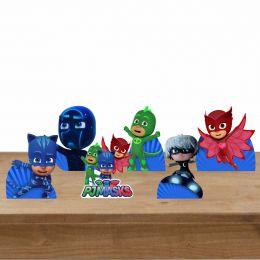 Kit Festa 6 Displays de Mesa Aniversário Pj Masks