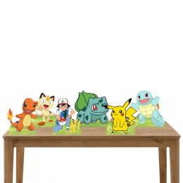 Kit Festa 6 Displays de Mesa Aniversário Pokemon