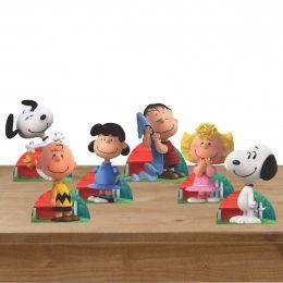 Kit Festa 6 Displays de Mesa Aniversário Snoopy