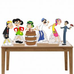 Kit Festa 6 Displays de Mesa Aniversário Turma do Chaves