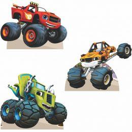 Kit Festa 6 Displays Mesa Aniversário Blaze Monsters Machines