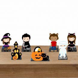 Kit Festa 7 Displays Mesa Aniversário Hallowen