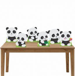 Kit Festa 6 Displays Mesa Aniversário Pandas