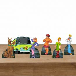 Kit Festa 6 Displays Mesa Aniversário Scooby Doo