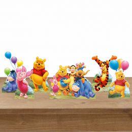 Kit Festa 6 Displays Mesa Aniversário Ursinho Pooh
