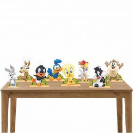 Kit Festa 8 Displays de Mesa Aniversário Baby Looney Tunes