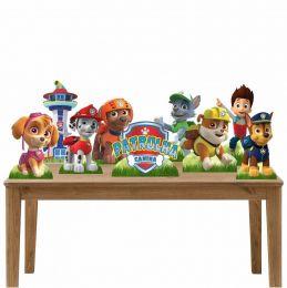 Kit Festa 9 Displays de Mesa Aniversário Patrulha Canina