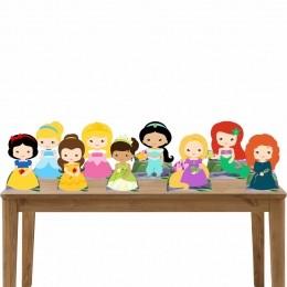 Kit Festa 9 Displays de Mesa Aniversário Princesas Cute