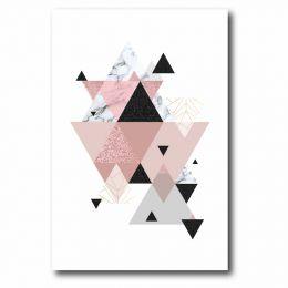 Paca Decorativa Triangulo Rosa e Preto