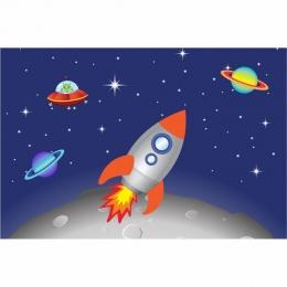 Painel de Festa Astronauta em lona