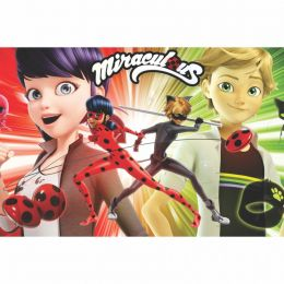 Painel de Festa Lona 2 Miraculous Ladybug