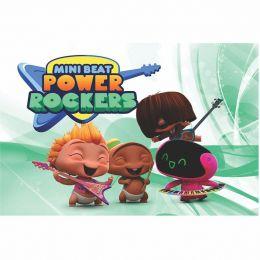 Painel de Festa Lona Mini Beat Power Rockers 2