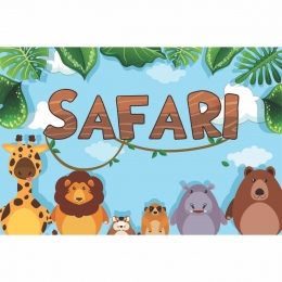 Painel de Festa Lona Safari
