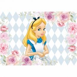 Painel de Festa lona Alice no País das Maravilhas II
