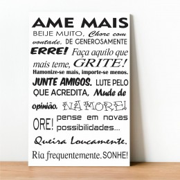 Placa Decorativa Ame Mais