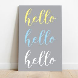 Placa Decorativa Hello