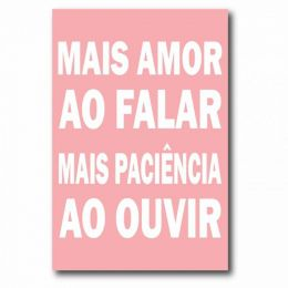 Placa Decorativa Mais Amor