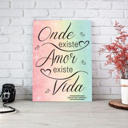 Placa Decorativa Onde Existe Amor
