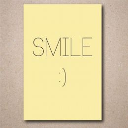 Placa Decorativa Smile