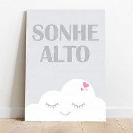 Placa Decorativa Sonhe Alto