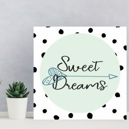 Placa Decorativa Sweet Dreams Azul