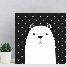 Placa Decorativa Urso Polar