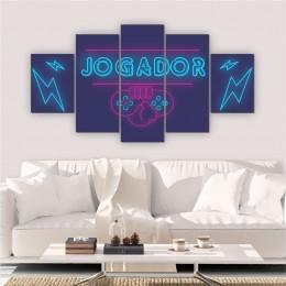 Quadro Decorativo Mosaico Quarto Jogador 5 peças