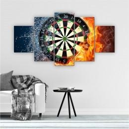 Quadros Decorativos Mosaico Quarto Sala Roleta 5 peças