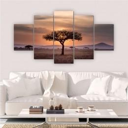 Quadros Decorativos Mosaico Sala Árvore Natureza 5 peças