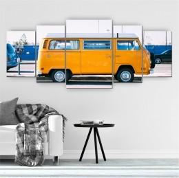 Quadro Decorativo Mosaico Sala Quarto Kombi 5 peças 144x60cm
