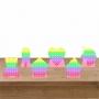 Kit 1 Decorativo 6 Displays de Mesa Pop It